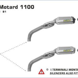 ESCAPES ARROW DUCATI - Silencioso Arrow Thunder Approved de aluminio (Dcho+Izdo) version corta -