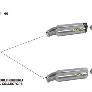 ESCAPES ARROW DUCATI - Silencioso Arrow Thunder de aluminio Dark (Dcho+Izdo) fondo en carbono -