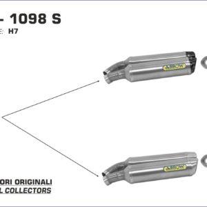 ESCAPES ARROW DUCATI - Silencioso Arrow Thunder Approved de titanio (Dcho+Izdo) -