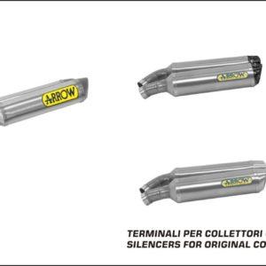 ESCAPES ARROW DUCATI - Silencioso Arrow Thunder de titanio (Dcho+Izdo) fondo en carbono -