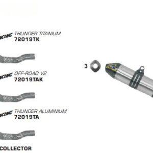 ESCAPES ARROW GAS GAS - Silencioso Arrow Off-Road Thunder de titanio fondo en carbono -