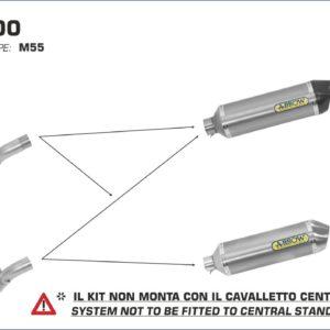 ESCAPES ARROW GILERA - ESCAPE ARROW RACE TECH ALUMINIO COPA INOX GILERA GP 800 '08/13 -