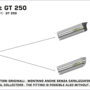 ESCAPES ARROW HYOUSUNG - Silencioso Arrow Thunder Approved de aluminio para Colectores Arrow Arrow -
