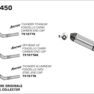 ESCAPES ARROW - Silencioso Arrow Off-Road Thunder de titanio fondo en carbono -