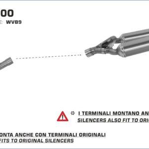 ESCAPES ARROW - Silencioso Arrows Round-Sil titanio Approved (Dcho+Izdo) -