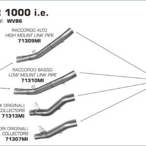 ESCAPES ARROW - Silencioso Arrow Race-Tech Approved de titanio L. 350mm. -