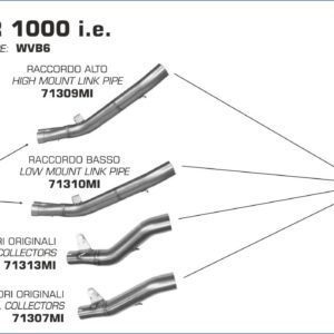 ESCAPES ARROW - Silencioso Arrow Race-Tech Approved de carbono L. 350mm. -