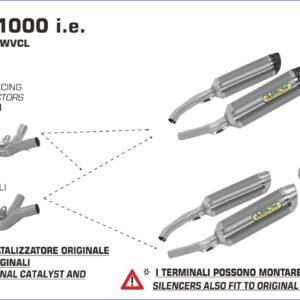 ESCAPES ARROW - Silencioso Arrow Thunder Approved de titanio (Dcho+Izdo) fondo en carbono -