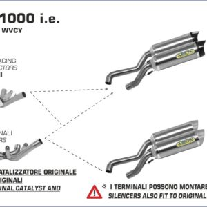 ESCAPES ARROW - Silencioso Arrows Pro-Racing Road Approved (Dcho+Izdo) fondo en carbono -