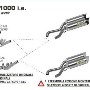 ESCAPES ARROW - Silencioso Arrow Thunder de aluminio Dark (Dcho+Izdo) fondo en carbono -