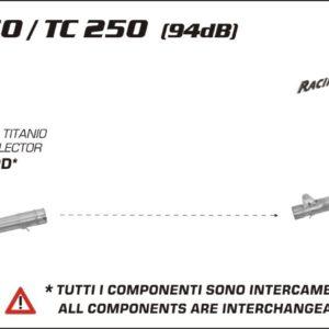 ESCAPES ARROW HUSQVARNA - Silencioso Arrow Off-Road Thunder de titanio fondo en carbono -