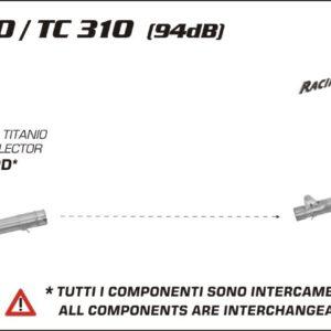 ESCAPES ARROW HUSQVARNA - Colector Arrow de titanio -