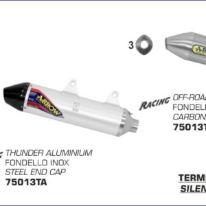 ESCAPES ARROW HUSQVARNA - Silencioso Arrow Off-Road Thunder de aluminio -