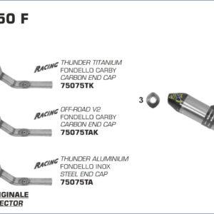 ESCAPES ARROW KAWASAKI - Sistema completo Arrow Off-Road MX Competition fondo en carbono -