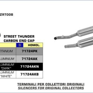 ESCAPES ARROW KAWASAKI - Silencioso Arrow Thunder Approved de titanio (Dcho+Izdo) fondo en carbono -