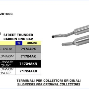 ESCAPES ARROW KAWASAKI - Silencioso Arrow Thunder Approved de titanio (Dcho+Izdo) -