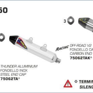ESCAPES ARROW KTM - Silencioso Arrow Off-Road Thunder de titanio fondo en carbono -