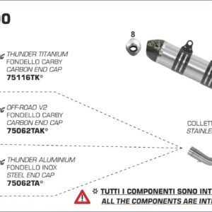 ESCAPES ARROW KTM - Colector Arrow en acero inoxidable -