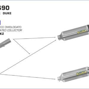 ESCAPES ARROW KTM - Silencioso Arrow Race-Tech Approved de aluminio fondo en carbono -