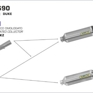ESCAPES ARROW KTM - Silencioso Arrow Race-Tech Approved de aluminio Dark fondo en carbono -