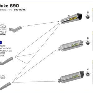 ESCAPES ARROW KTM - Conector Arrow para Colectores Arrow originales -