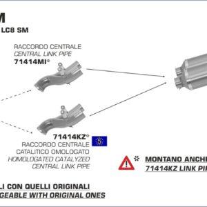 ESCAPES ARROW KTM - Conector Arrow central catalítico -