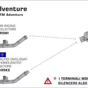 ESCAPES ARROW KTM - Colector Arrow catalítico -