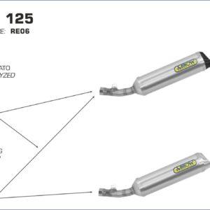 ESCAPES ARROW - Kit Arrow Colectores Arrow catalítico -