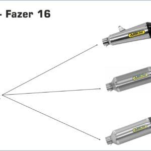 ESCAPES ARROW - Silencioso Arrow Thunder de aluminio fondo en carbono -