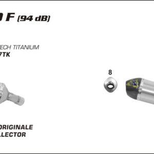 ESCAPES ARROW - Sistema completo Arrow Off-Road MX Competition fondo en carbono -