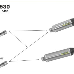 ESCAPES ARROW - Silencioso Arrow Race-Tech de aluminio Dark fondo en carbono -