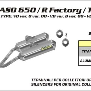 ESCAPES ARROW APRILIA - Silencioso Arrows Thunder Approved de aluminio (Dcho+Izdo) -