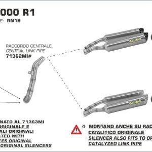 ESCAPES ARROW - Silencioso Arrow Thunder de aluminio (Dcho+Izdo) fondo en carbono -