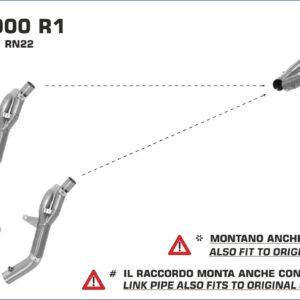 ESCAPES ARROW - Silencioso Arrows Race-Tech Approved de titanio (Dcho+Izdo) fondo en carbono -