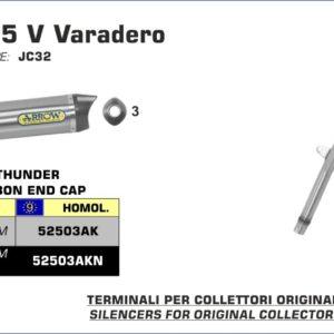 ESCAPES ARROW HONDA - Silencioso Arrow Off-Road Thunder de aluminio omologado -