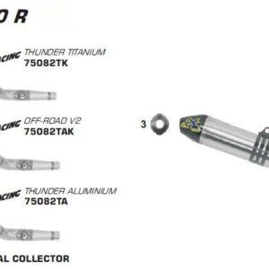 ESCAPES ARROW HONDA - Silencioso Arrow Off-Road Thunder de titanio fondo en carbono -