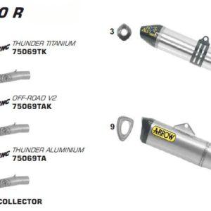 ESCAPES ARROW HONDA - Sistema completo Arrow Off-Road MX Competition EVO -
