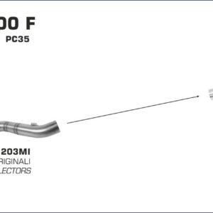 ESCAPES ARROW HONDA - Conector Arrow bajo para Colectores Arrow originales -