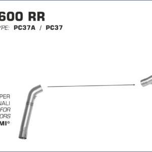 ESCAPES ARROW HONDA - Silencioso Arrow Indy Race Approved de carbono -
