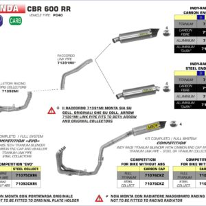ESCAPES ARROW HONDA - Silencioso Arrow Indy-Race Approved de aluminio -