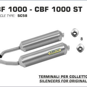 ESCAPES ARROW HONDA - Silencioso Arrows Race-Tech Approved de aluminio (Dcho+Izdo) -