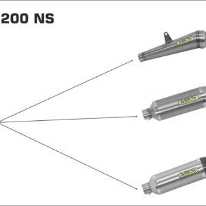BAJAJ - Silencioso Arrow Thunder de titanio fondo en carbono -