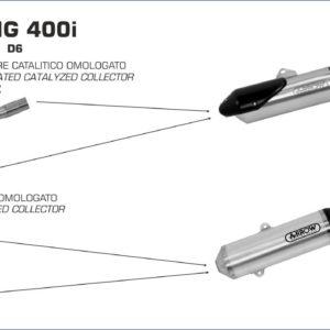 ESCAPES ARROW - Colector Arrow catalítico homologado para Escape Arrow Reflex -