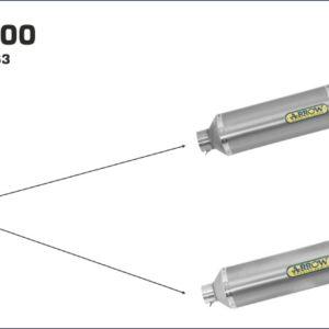 MV AGUSTA - Conector Arrow para Silencioso Arrows Race-Tech para Colectores Arrow originales -