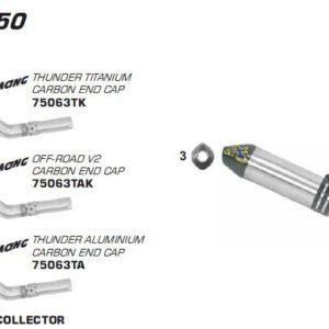 ESCAPES ARROW KTM - Silencioso Arrow Thunder de titanio fondo en carbono -
