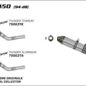 ESCAPES ARROW KTM - Silencioso Arrow Off-Road Thunder de aluminio -