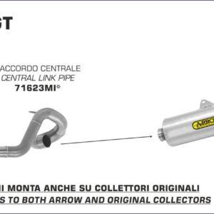 BENELLI - Silencioso Arrow Indy Race de aluminio Dark fondo en carbono -
