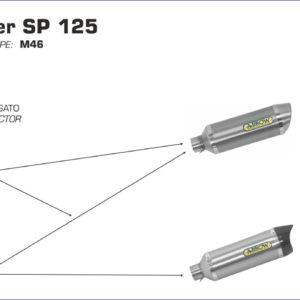 GILERA - Silencioso Arrow Thunder de aluminio Dark fondo en carbono -