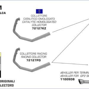 KTM - Silencioso Arrow Race-Tec de aluminio (Dcho+Izdo) fondo en carbono para Colectores Arrow originales -
