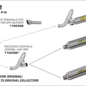 BENELLI - Kit Arrow de Silencioso Arrow GP2 -